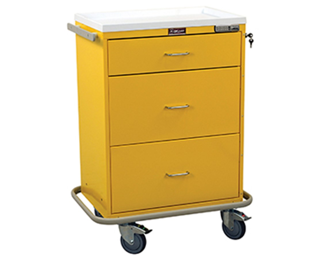 Classic Three Drawer Infection Control Cart with Keyless Entry HAR7510-