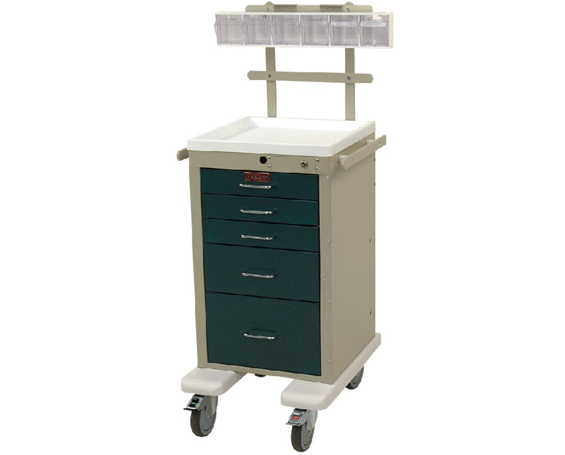 Mini Line Aluminum Five Drawer Anesthesia Cart HARAL3245K-