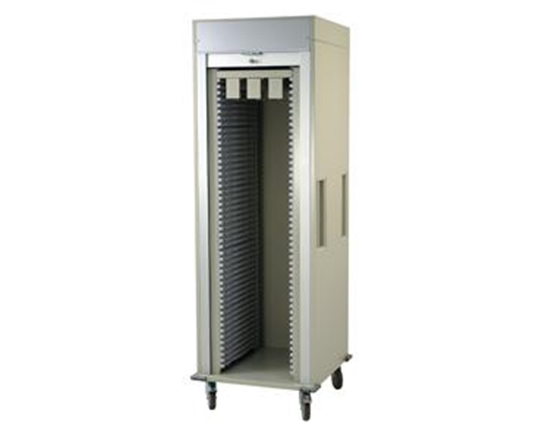 Single Column Cath Lab Medical Storage Cart with Tambour Door HARMS8128CATH-