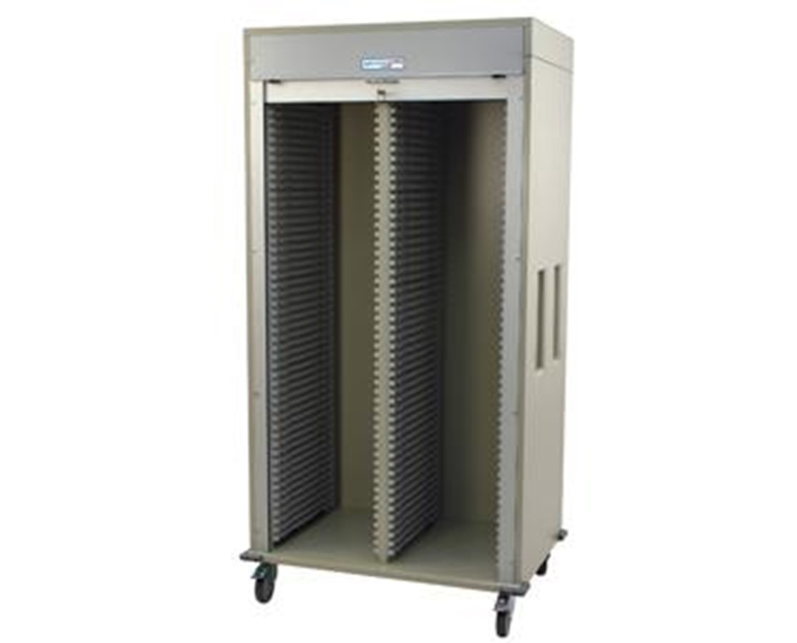 Double Column Medical Storage Cart with Tambour Door HAR8140-