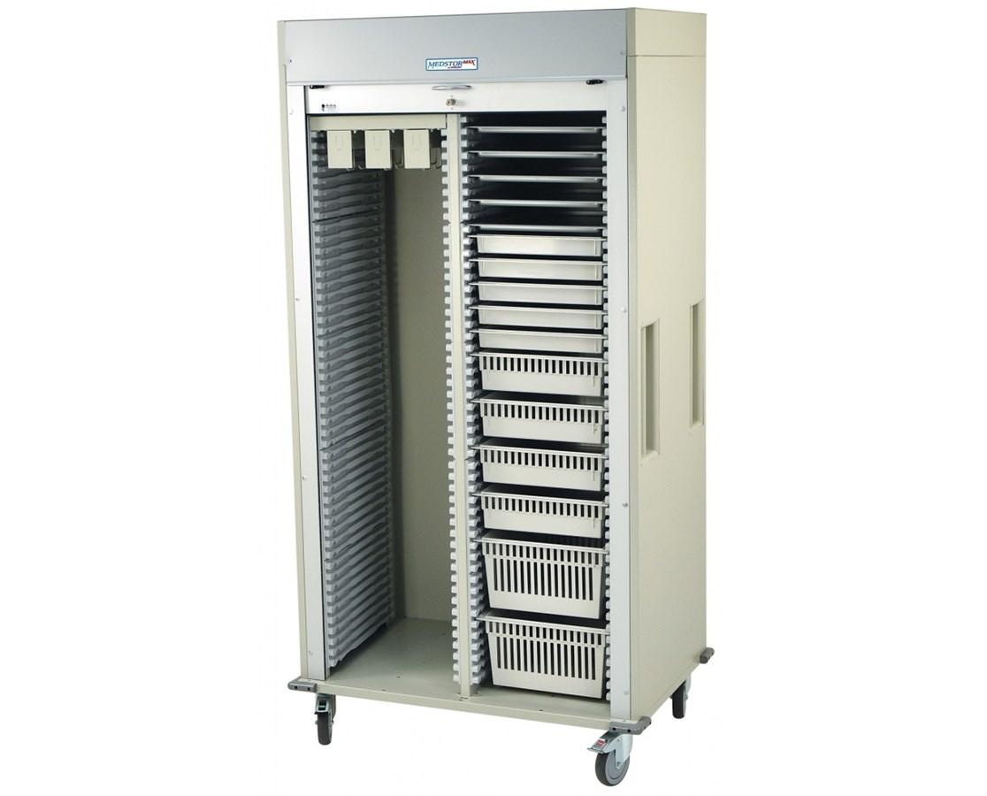 Preconfigured Double Column Catheter Procedure Cart with Tambour Door HARMS8140CATH-7-