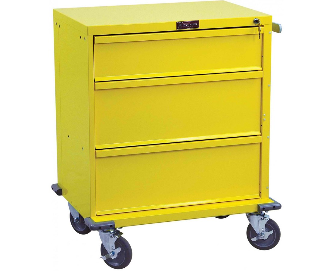 V-Series Three Drawer Standard Package Procedure Cart HARV24-3K-