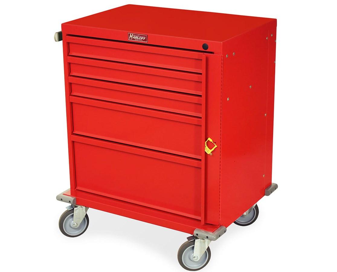 V-Series Five Drawer Treatment Cart HARV24-5K-