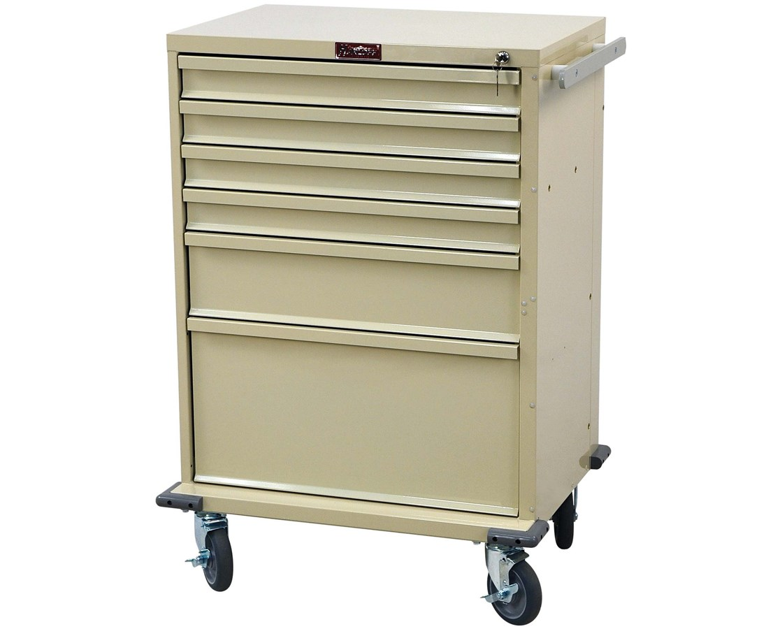 V-Series Six Drawer Treatment Cart HARV30-6K-