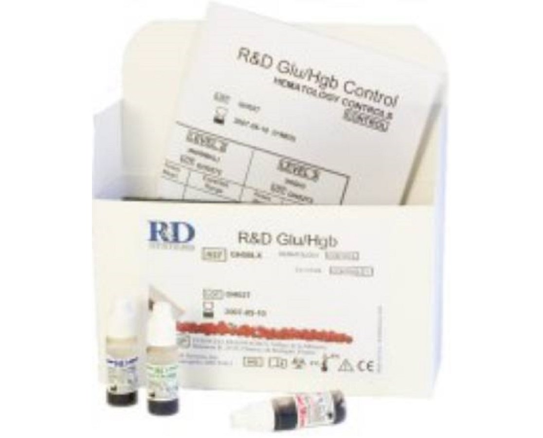 R&D Controls for Glucose/Hemoglobin Analynzers, 1.5mL/vial, 3 vials/bx HMCHCLNH3