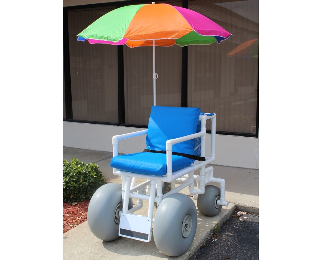 Beach Wheelchair - Swivel wheels in back - Reclining HMPROLLEEZE-4