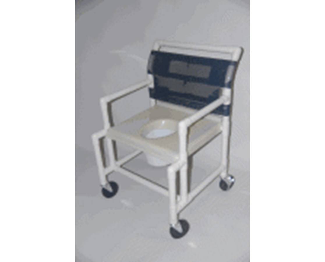 "24"" Wide PVC Shower Chair with Vaccum Formed Seat, Extended Front HMPSC6014X-VAC-EF"