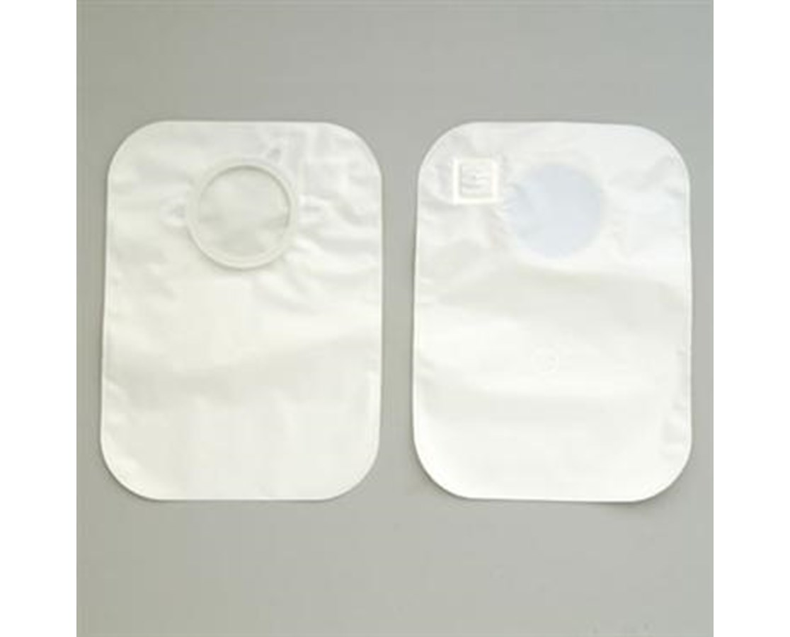 "Two Piece Pouch- CenterPointLock Closed Pouch, White 1 1/2"" Flange HOL3347"