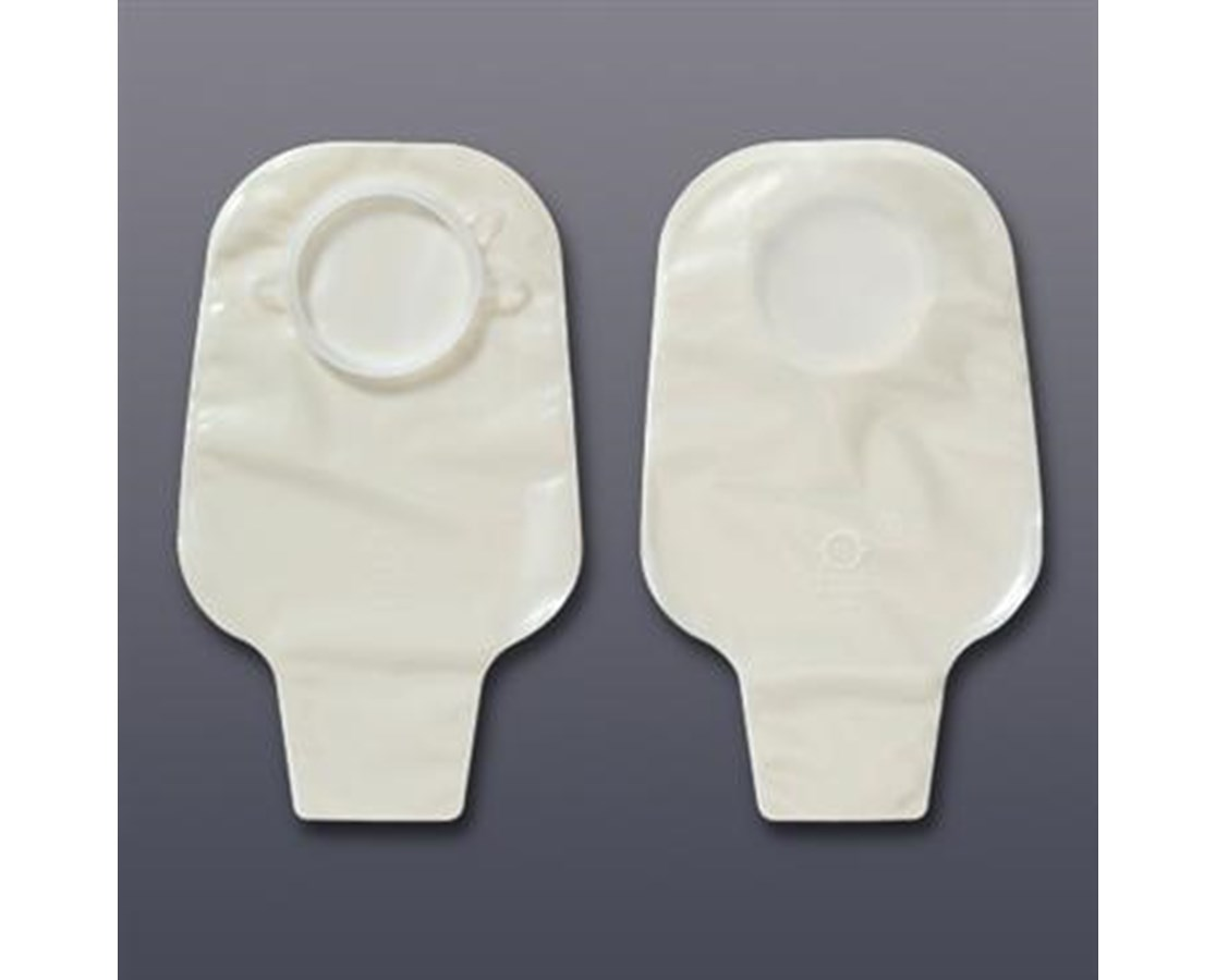 """Two Piece Pouch- CenterPointLock Closed Pouch, White 1 1/2"""" Flange HOL3347"""