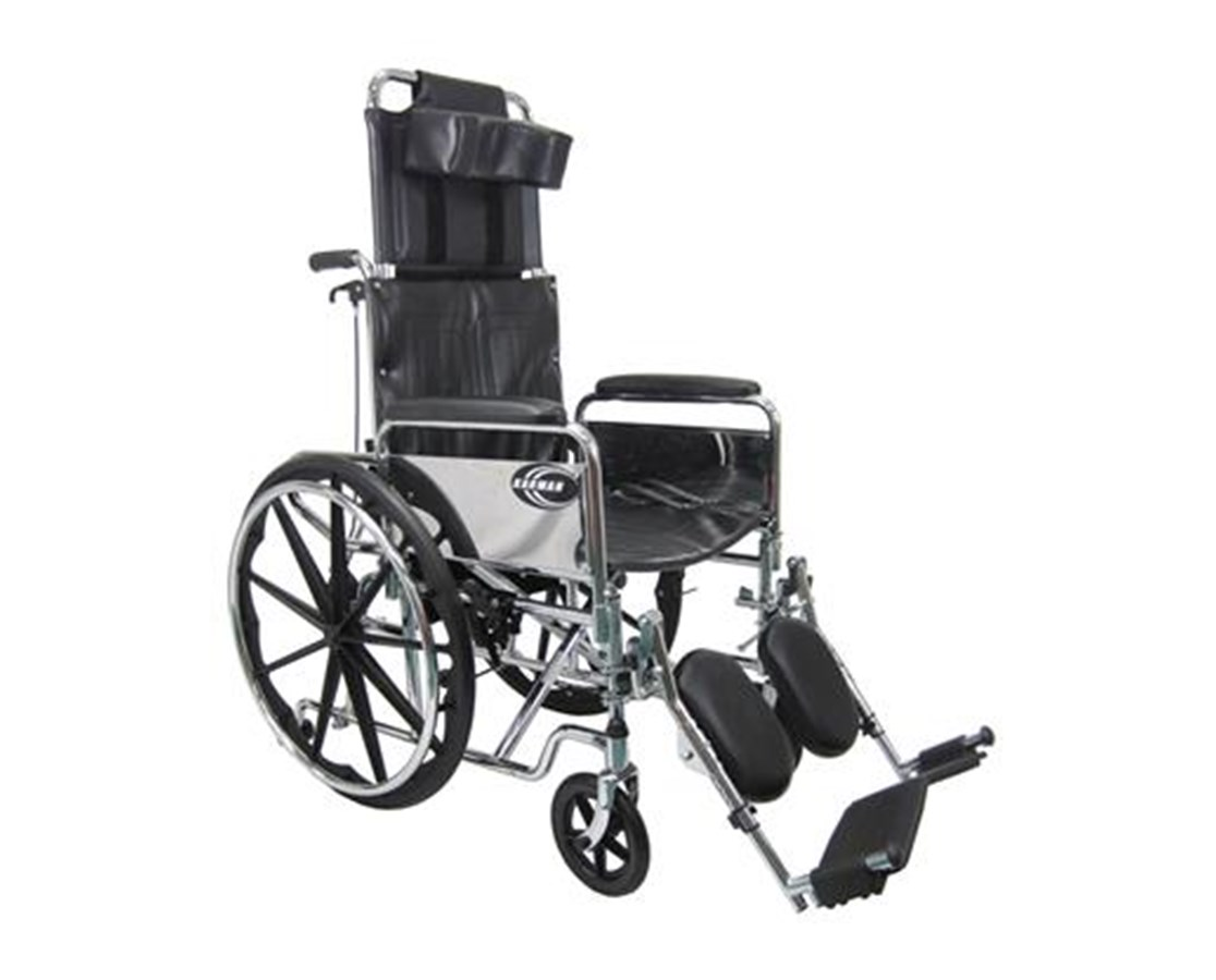 Reclining Wheelchair with Removable Armrests & Footrests KARKN-880-E-