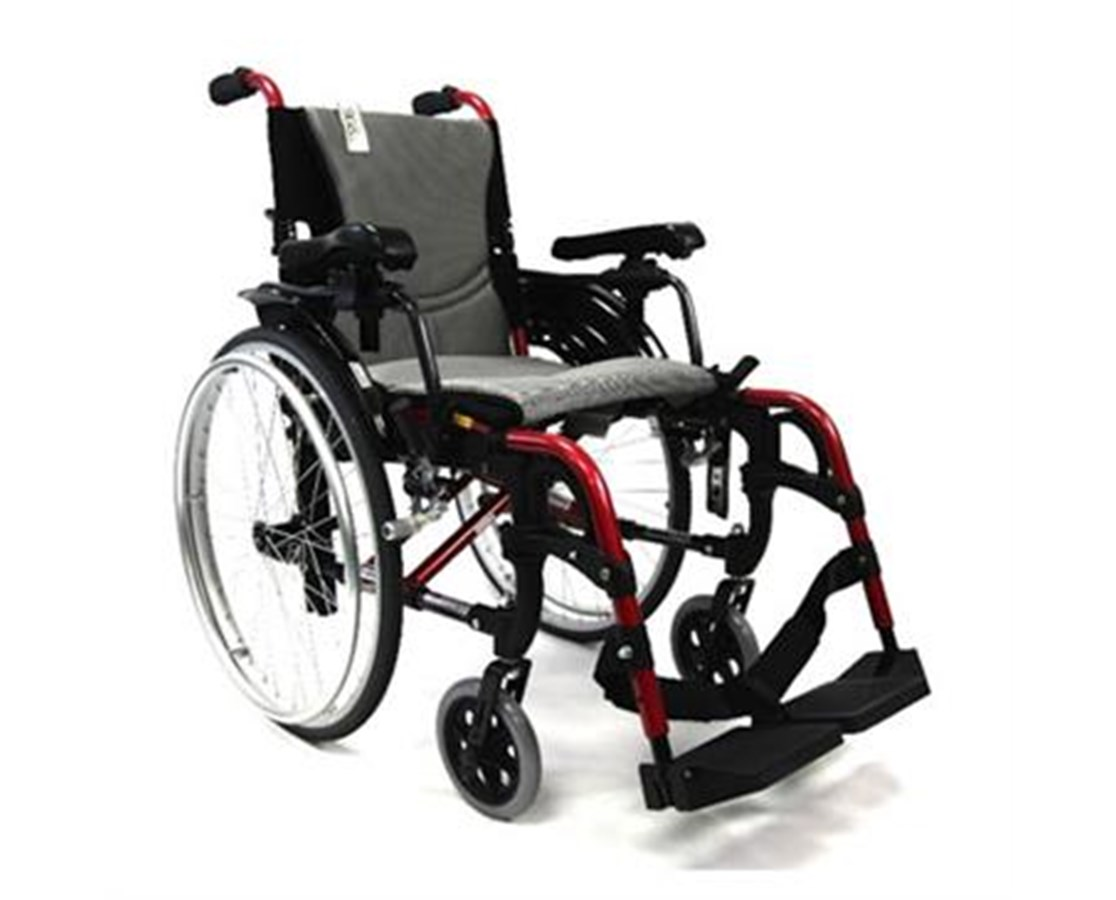 S-Ergo Ultralightweight Wheelchair with Adjustable Seat Height KARS-Ergo305Q16SS-