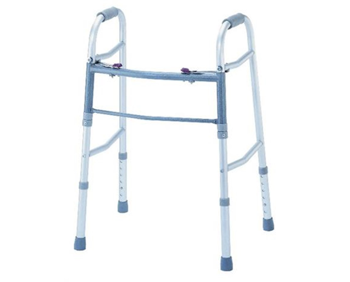 Two Buttons Adjustable Deluxe Folding Walker KARW-01