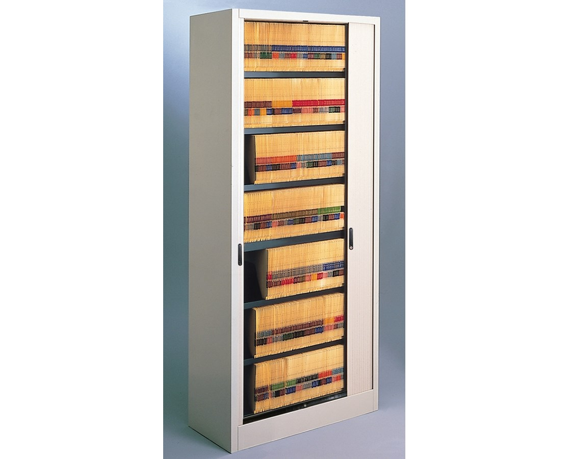 File Harbor Unit with Horizontal Tambour Door - 7 Tier MAY8336A3-