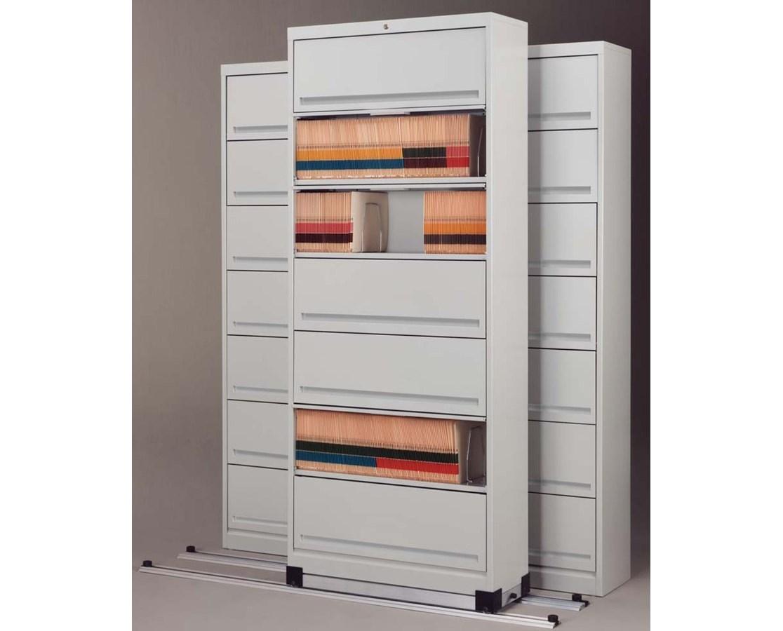 Flip-n-File™ Cabinets on Kwik-Track - Bi-Slider, 3 Units - 2/1 MAYFF521-