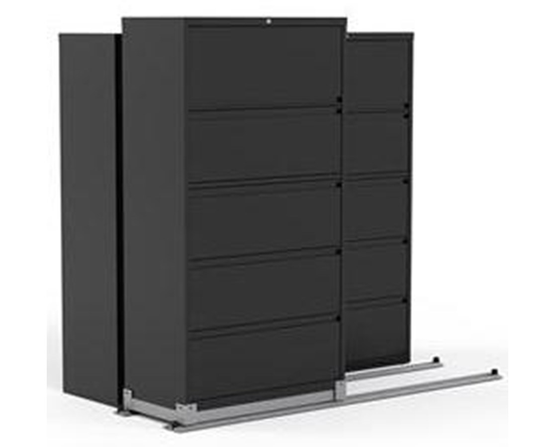 Lateral Files on Kwik-Track - 5 Drawers, Bi-Slider, 3 Units - 2/1 MAYLATH36521-