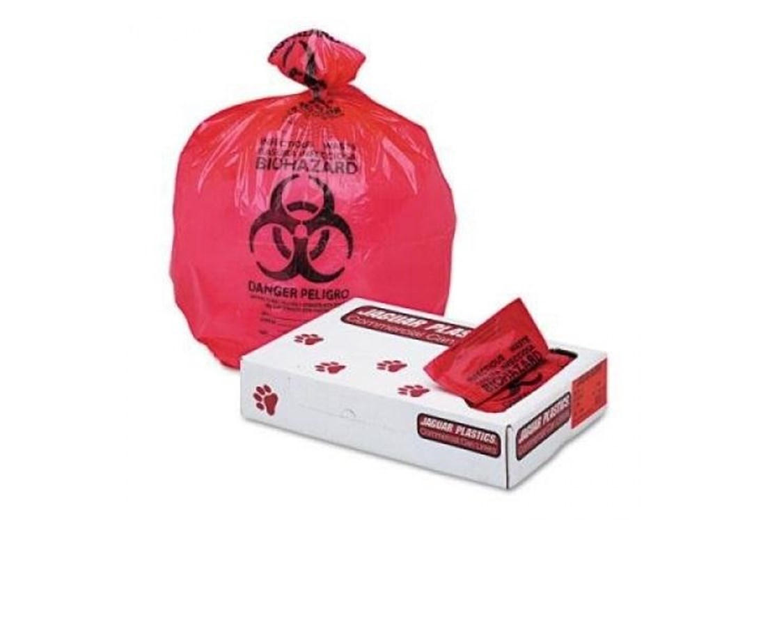SP Brand Bio-Check Biohazard Bags DESKTOP 8X12 RED 400/Case MEDBXTA951110