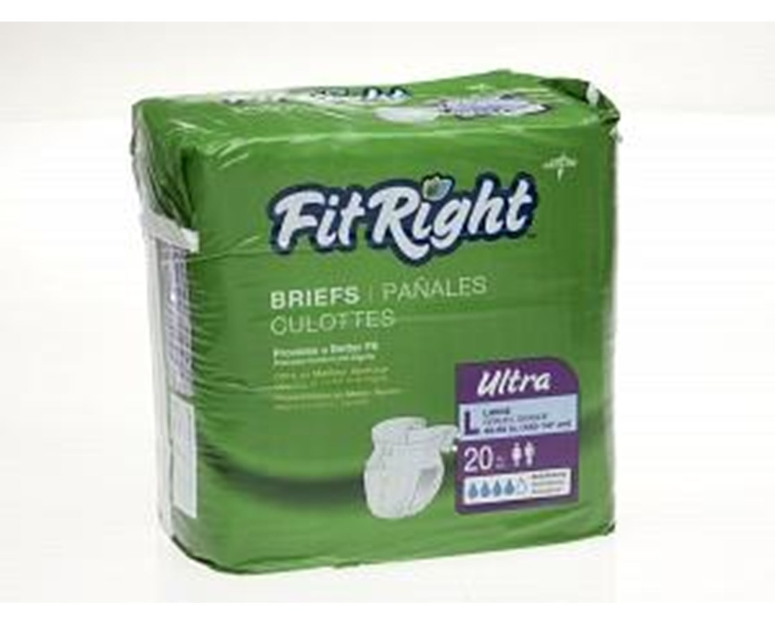 FitRight™ Ultra Size XX-Large Briefs MEDFITULTRAXXLZ