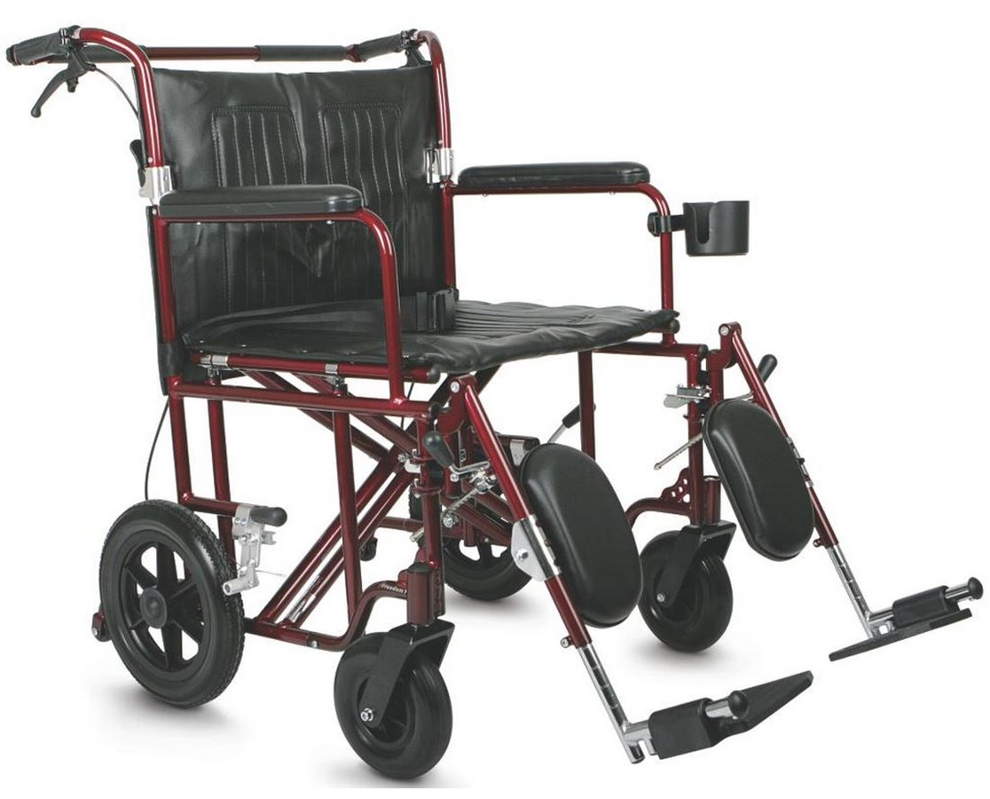 Medline MDS808200BAR Excel Freedom Plus Transport Wheelchair