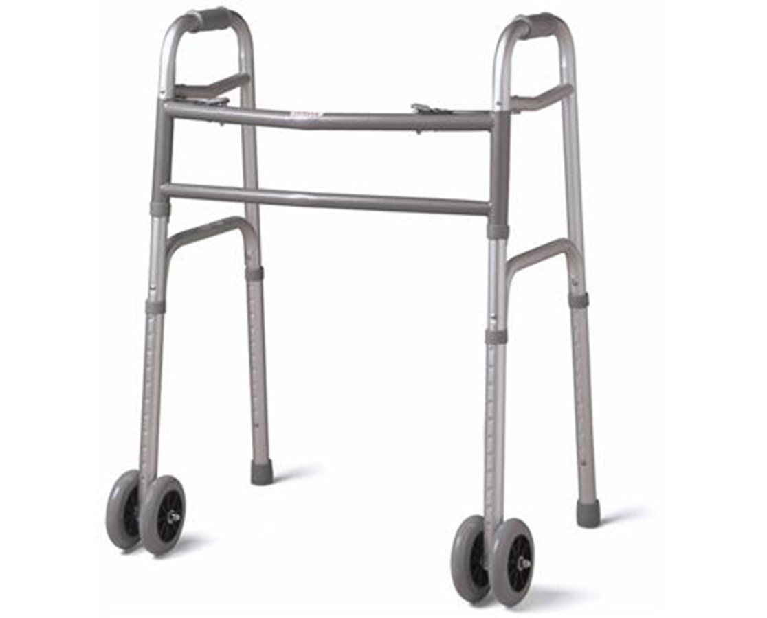 "Bariatric Folding Walker with 5"" Wheels MEDMDS86410XWW"
