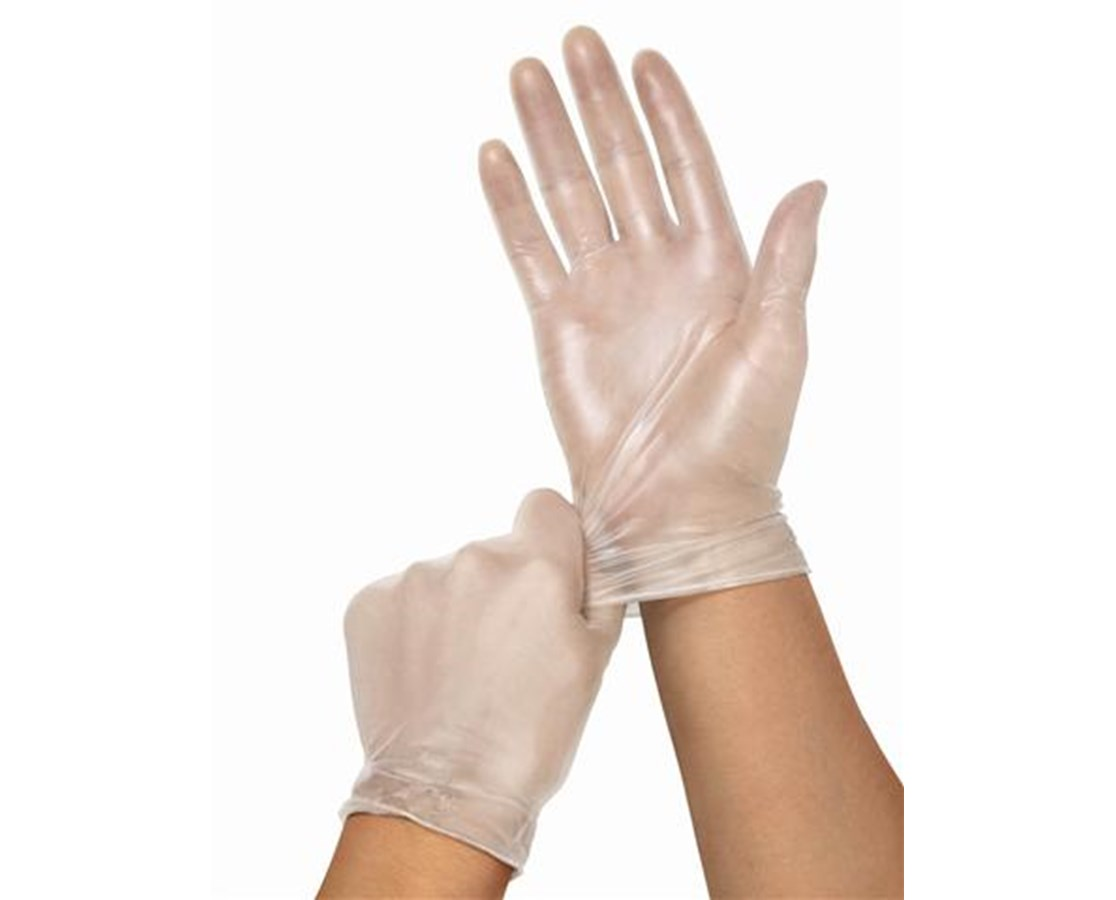Cedar Vinyl Synthetic Exam Gloves MEDMSV402P