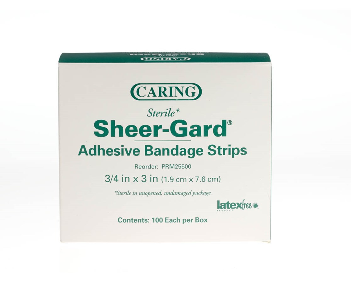 Caring Plastic Adhesive Bandages MEDPRM25500H-