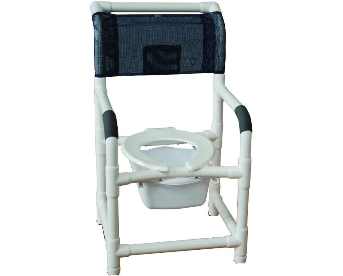 MJM 115-LP Commode Shower Chair with Rubber-tip Legs