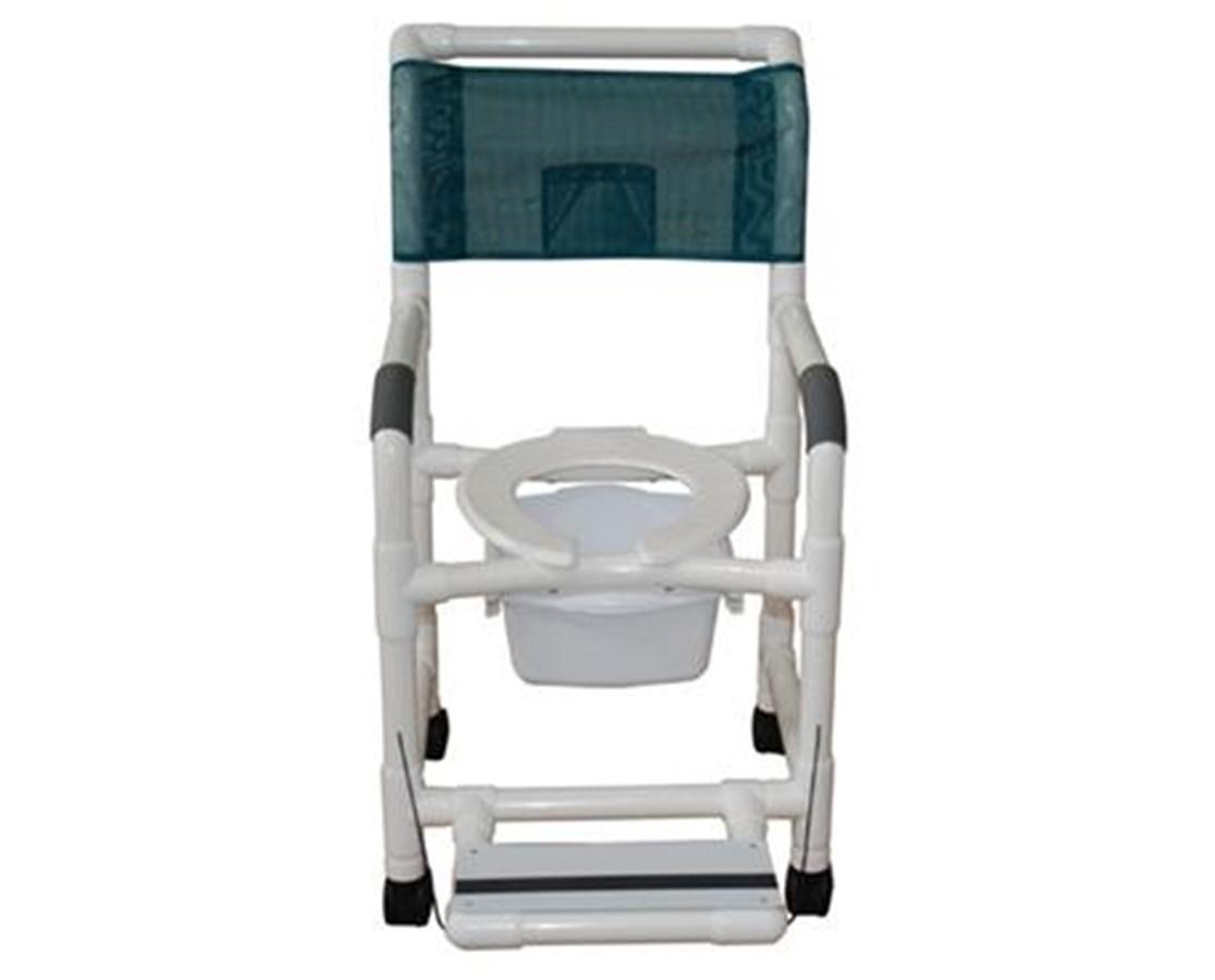 MJM 118-3-FF-SSDE-SQ-PAIL PVC Commode Shower Chair