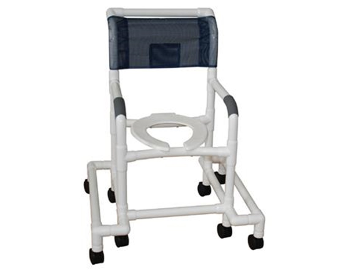 MJM118-3-SAFE Outrigger Shower Commode with 4 Locking Casters