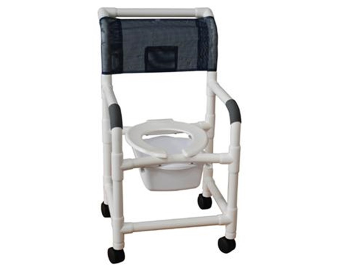 MJM118-3-SQ-PAIL Shower Commode with Commode Pail