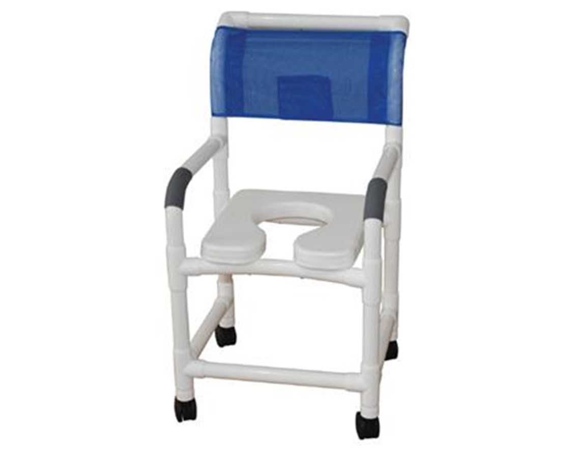 MJM118-3-SSDE Soft Seat Commode Shower Chair