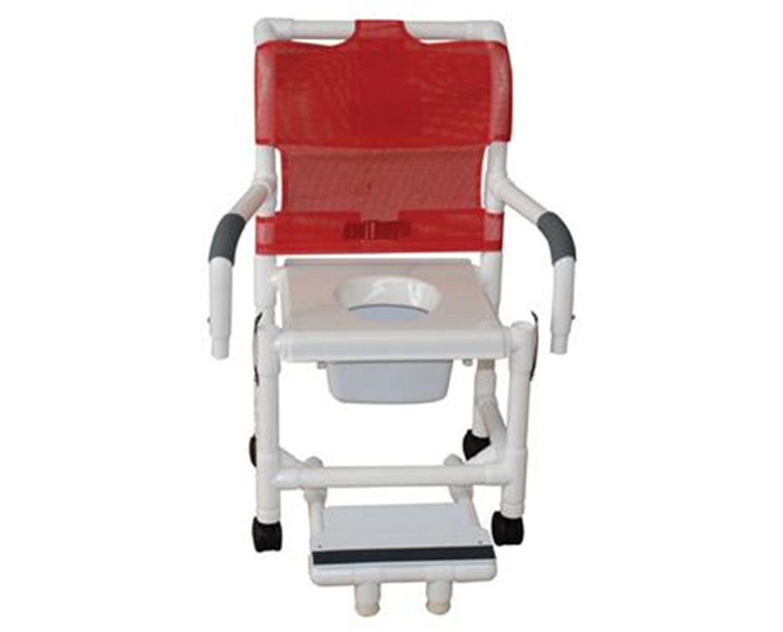 mjm commode shower chair with snap on seat save at. Black Bedroom Furniture Sets. Home Design Ideas