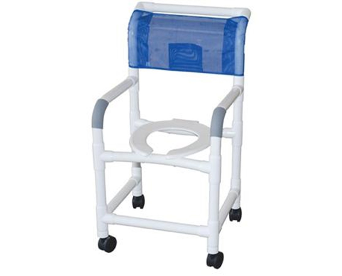 MJM118-5 Commode Shower Chair with Heavy Duty Casters