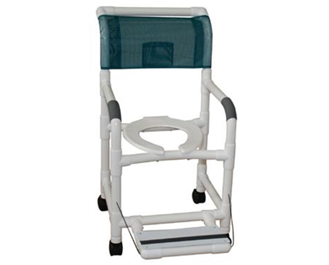 MJM 118-5-FF PVC Commode Shower Chair