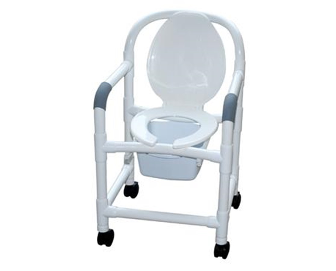 "MJM 118-CC10 18"" Bedside Commode with Standard Casters MJM118-CC10"