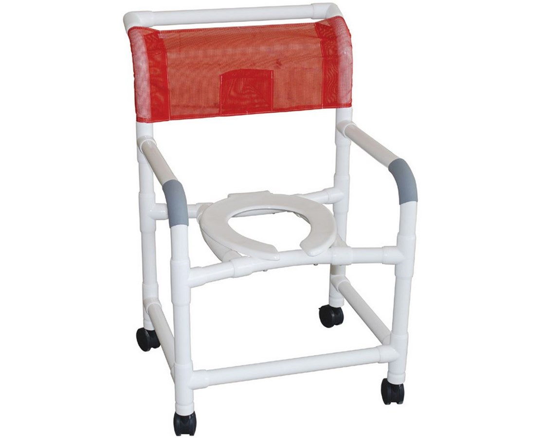 """MJM122-5 22"""" Wide Shower Commode with Heavy Duty Casters"""