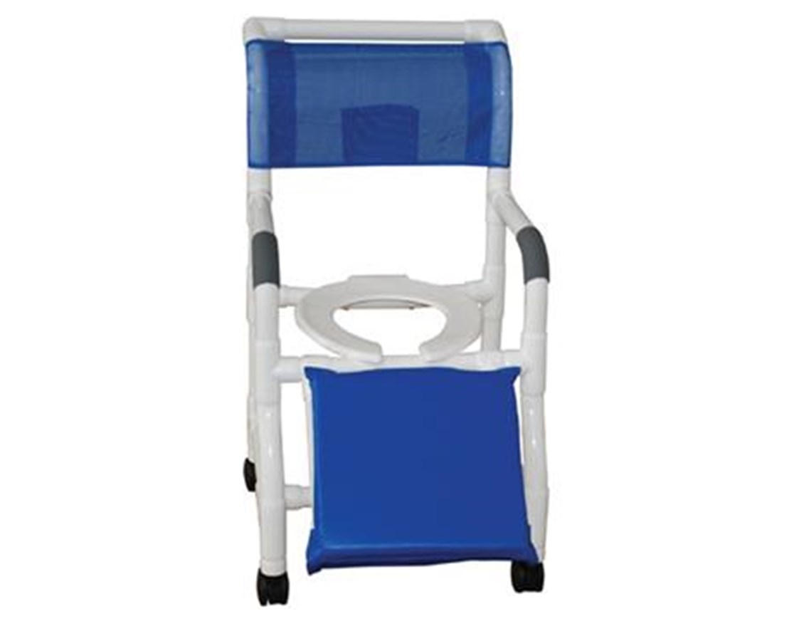 "MJM126-4-NB-A 26"" Wide Shower Commode for Below Knee Amputee"