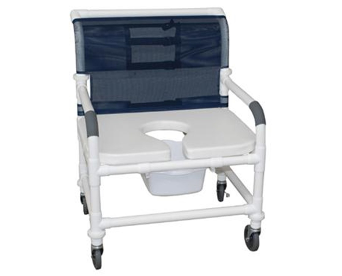 "26"" Wide Soft Seat Commode Shower Chair MJM126-4-NB-FSSS"