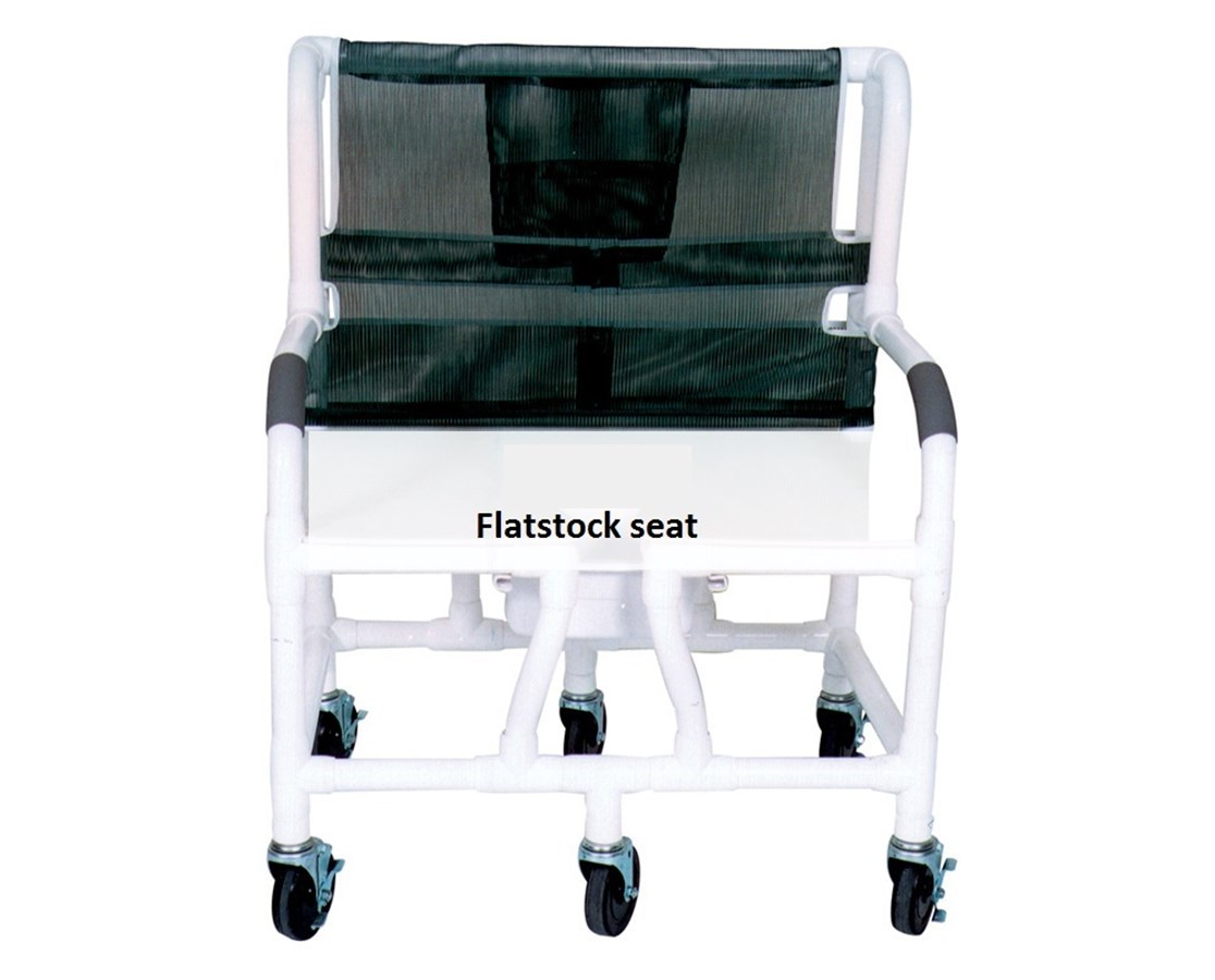 MJM 130-5-F Bariatric PVC Shower Chair