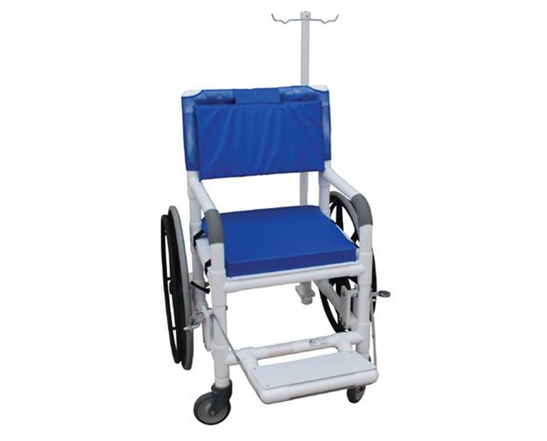 "MJM 131-18-24W-MRI 18"" Non-Magnetic Selp Propelled Aquatic Rehab Transport Chair"