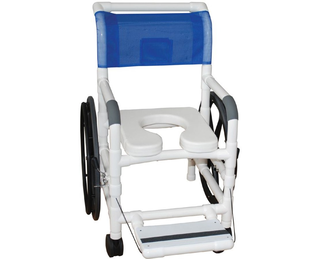 "MJM131-18-24 W 18"" Self Propelled Aquatic Rehab Shower Transport Chair"