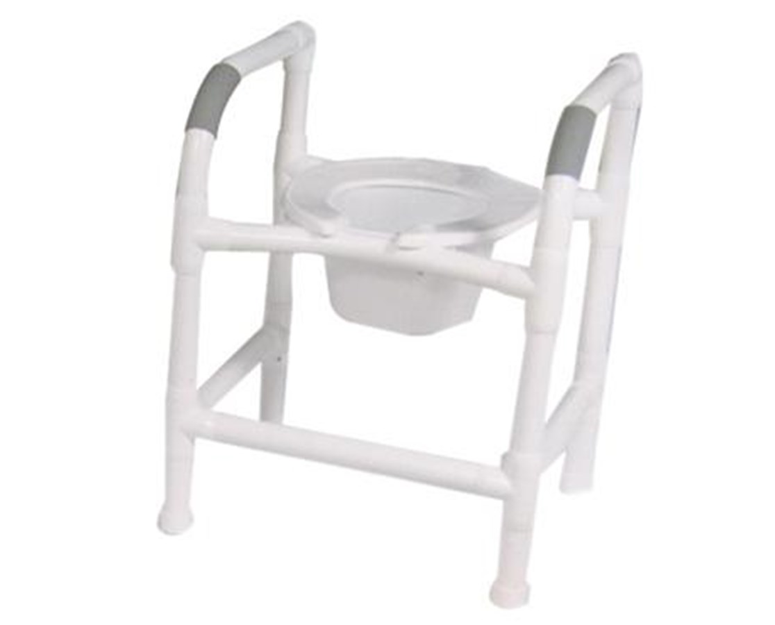 MJM 180-7-A Adjustable Height PVC Commode