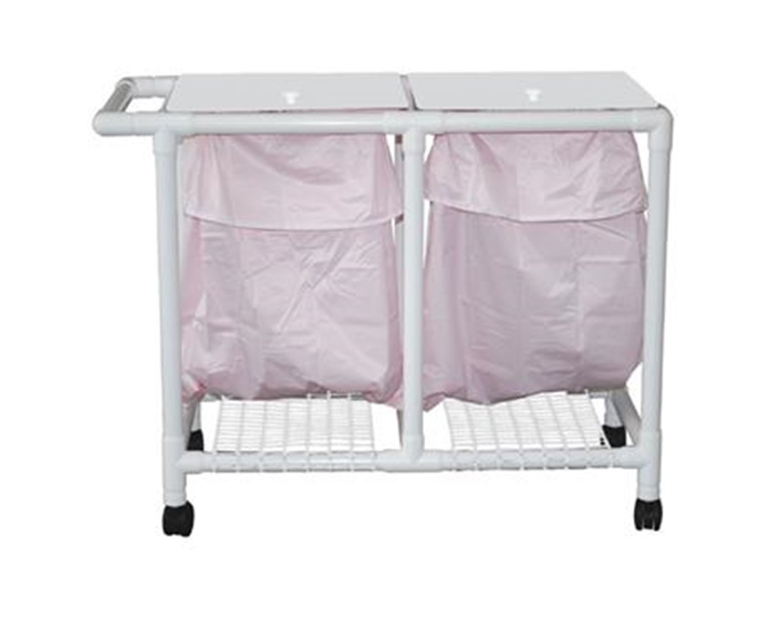 MJM 213-D-LP Space Saving Double Hamper with Leak-Proof Bag