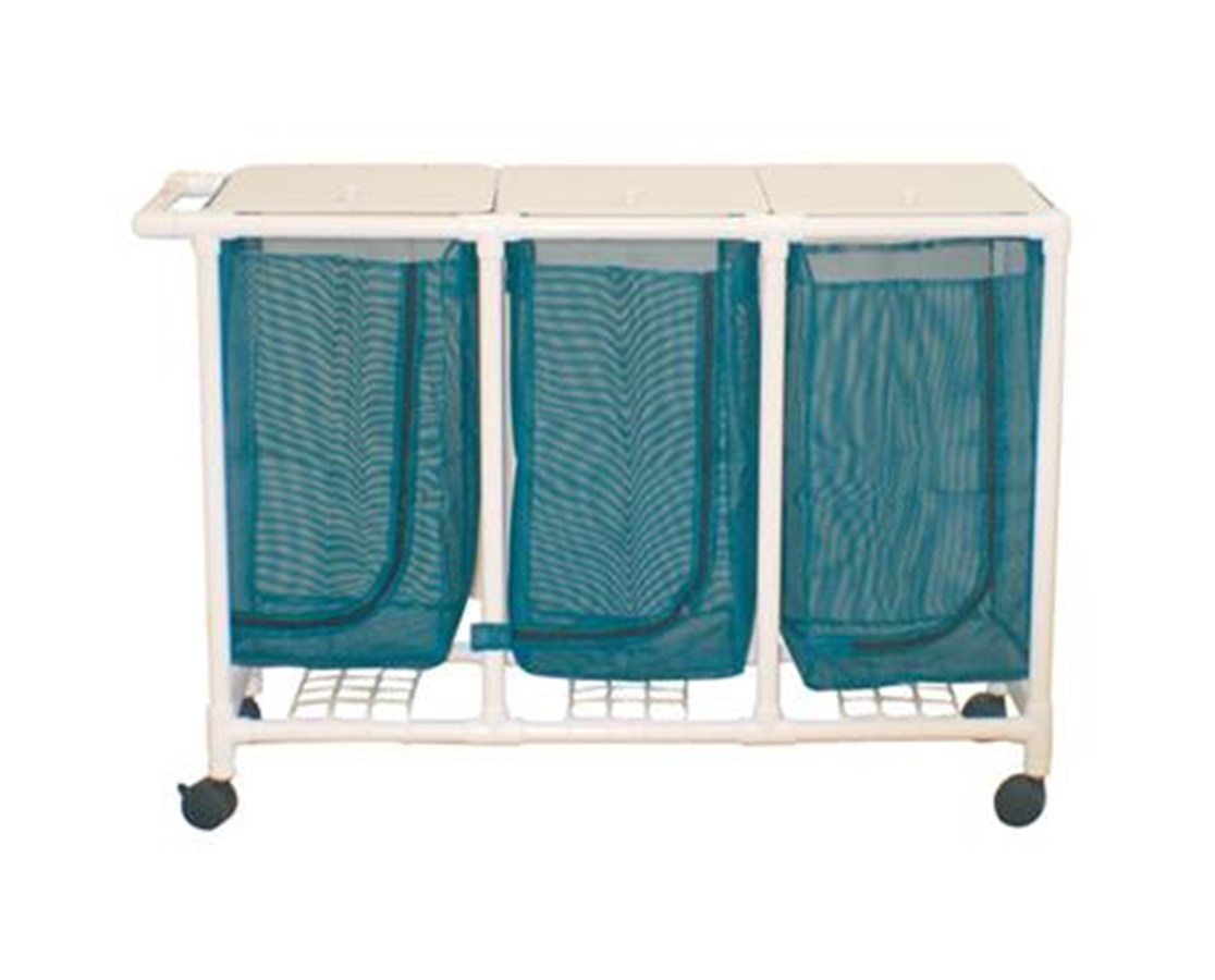 MJM 213-T-LP Space Saving Double Hamper with Leak-Proof Bag