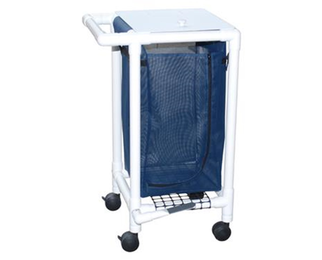 MJM 214-S-FP Single Hamper with Mesh Bag and Footpedal