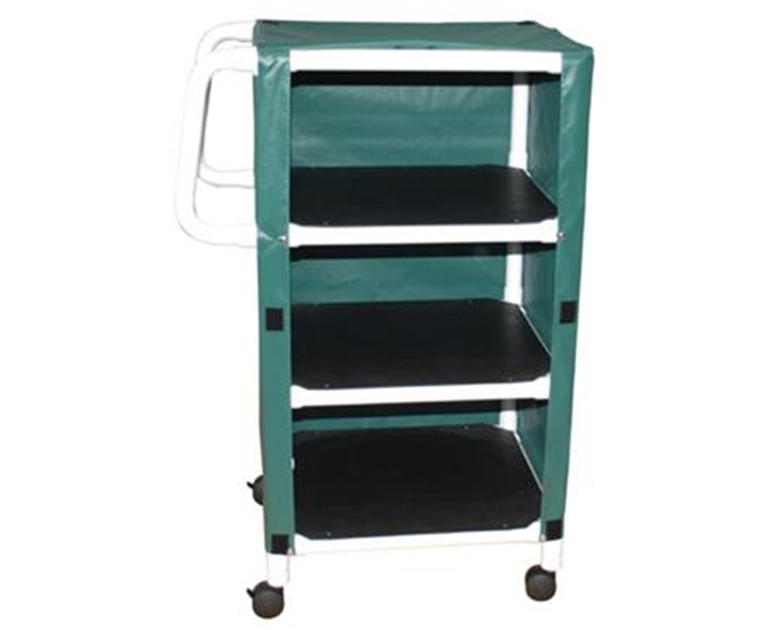 MJM 325-24-3C 24-Inch Three-Shelf Jumbo PVC Linen Cart