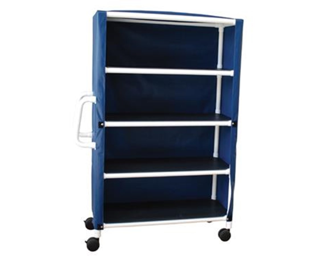 "MJM 325-24-4C Four Shelf Jumbo 24"" Linen Carts"