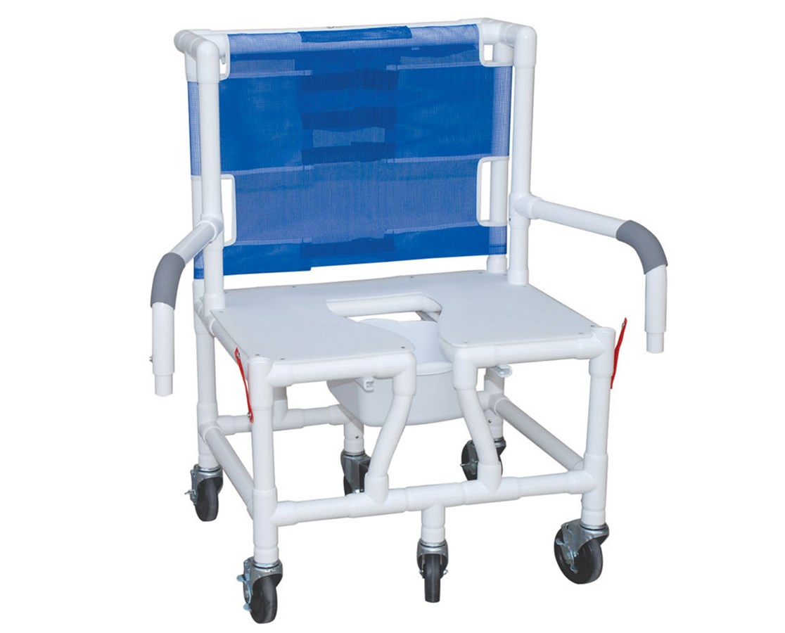 "MJM S126-5BAR-DDA 26"" Bariatric Shower Chair with Double Drop Arms and Full Support Seat"