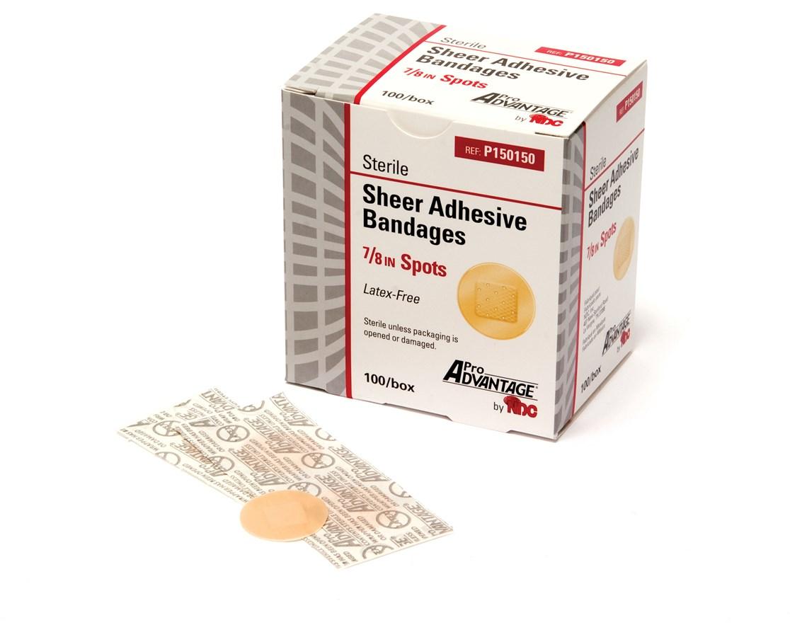Sheer Adhesive Bandages, Spots NDCP150150
