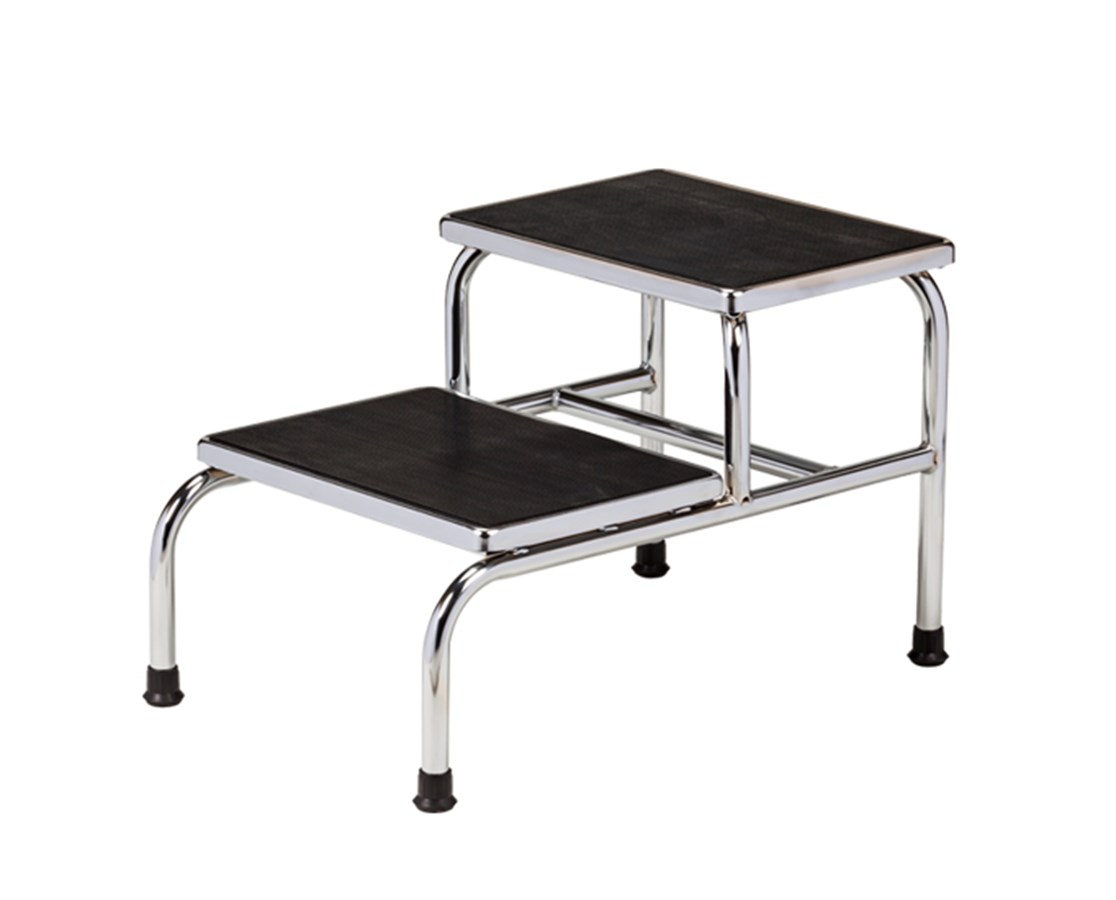 Chrome Two Step Bariatric Step Stool CLIT-6842