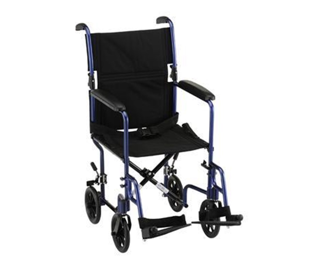 Nova 327B Lightweight 17-Inch Transport Chair